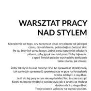 WARSZTAT PRACY NAD STYLEM